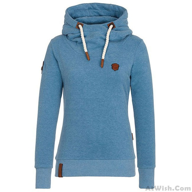 c07554a4805 Simple Fall Winter Hoodie Outfit Girls Sport Cashmere Top Pure Color Women  Sweater · Zoom. prev