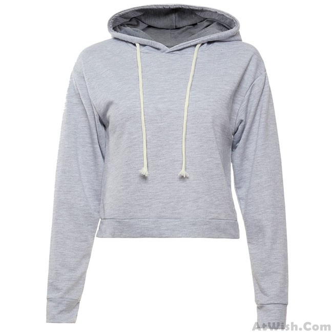 Sexy Crop Top Whole Color Hoodie Pullover Autumn Women's Sweater ...
