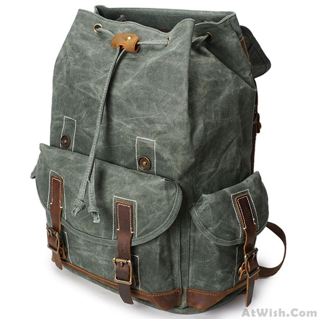 Washing The Washer In Backpack ~ Retro washing colors waterproof canvas school bag leather