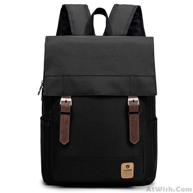 da7a693119 Preppy British Style Travel Rucksack Canvas Large School Backpack ...