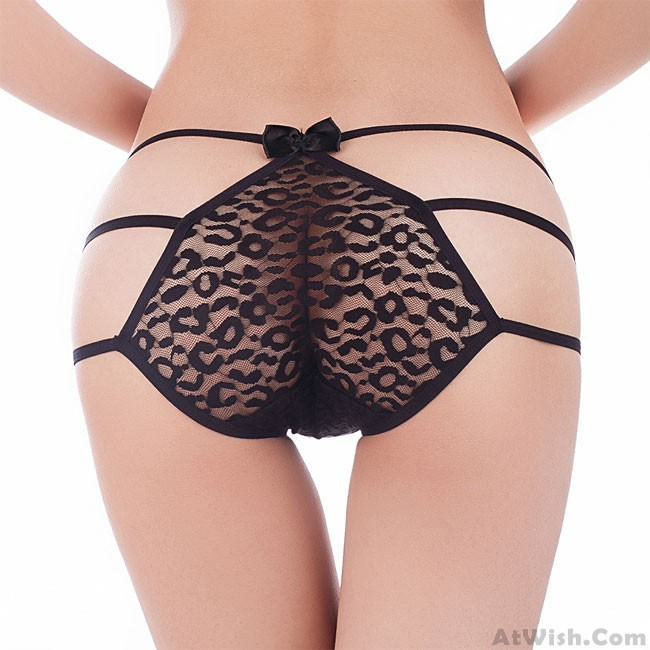 bf323095faf4 Sexy Lace Underwear Black Bow Pants Women Intimate Lingerie ...