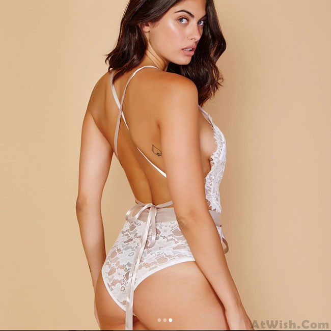 Sexy White Flower Lace Bandage Sling Conjoined Underwear Intimate Lingerie  · Zoom. prev 933386dcd