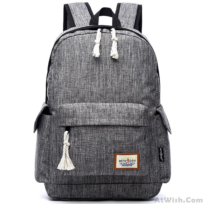 94c163de6359 Leisure Girl's Waterproof Oxford Cloth Simple Style Whole Color Large  School Backpack Travel Backpack only $32.99 -AtWish.com