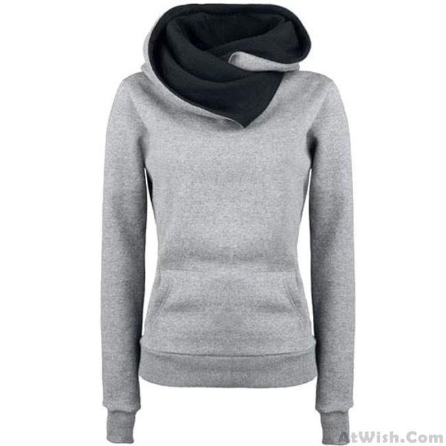 Fashion Turn-down Collar Hoodie Pullovers Coat Autumn Women s Thick jacket  Sweater 351aee110