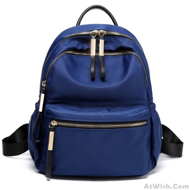 6e83cc4ed9be Leisure Pure Color Waterproof Oxford School Bag Simple Student Backpack