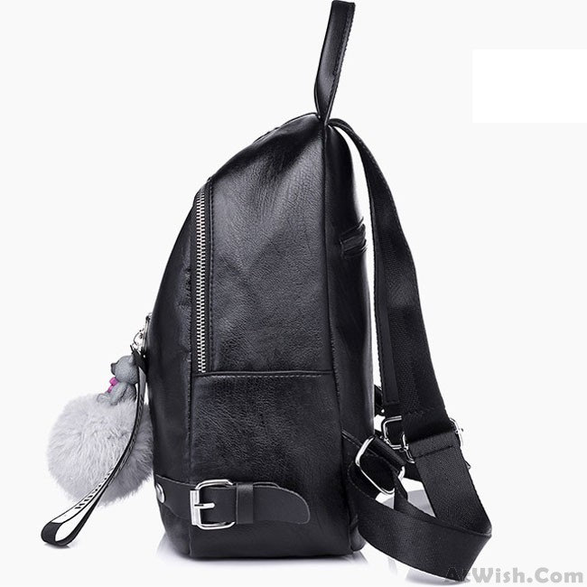 4eb4c44cb0 Leisure Black Vertical Zipper School Outdoor Sports Girl s Backpack ...