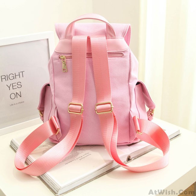 e0d27377b5 Fresh Mint Green Pure Color Girls Rucksack Candy Canvas College Backpack ·  Zoom. prev