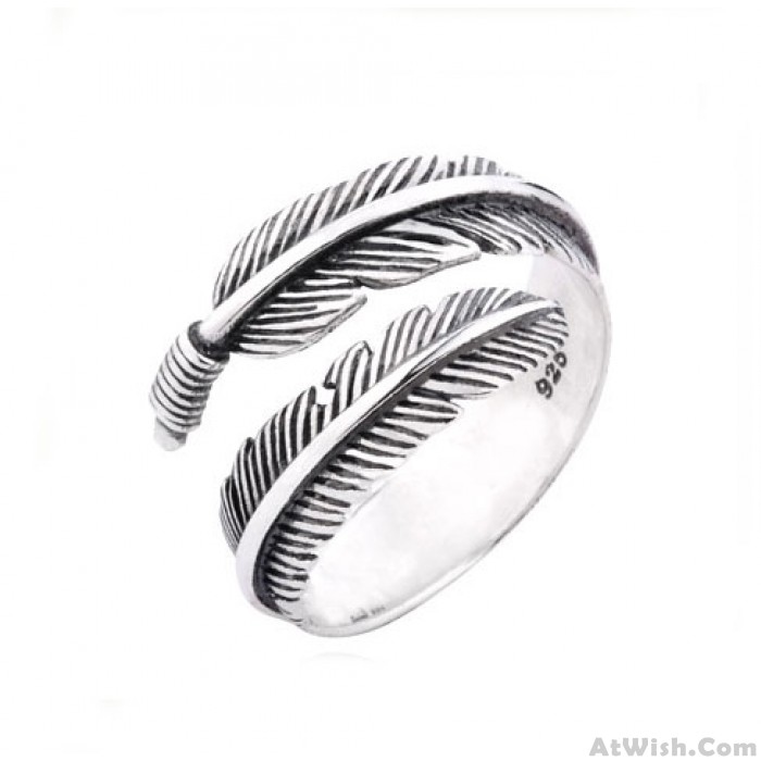 Unique Angel Wings Feather Ring
