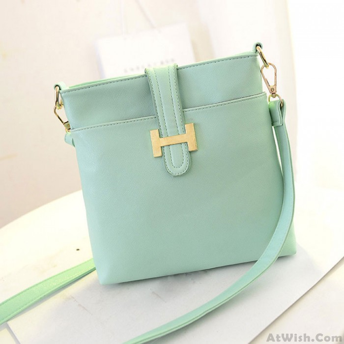 Fashion Double-sided Candy Color Leather Shoulder Bag