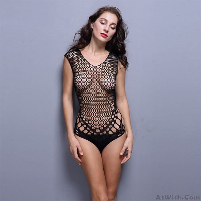 Sexy Tight Mesh Net Women Conjoined Intimate Lingerie