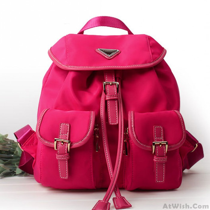 Fashion Multi-pocket  Pure Color Waterproof Backpack