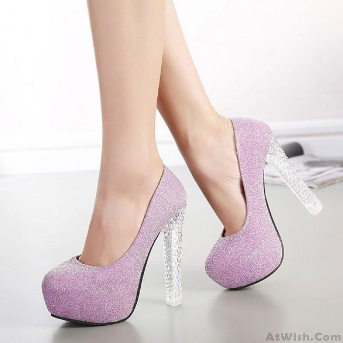Sexy Bling Crystal High Heels Woman Party Shoes
