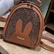Cute Cartoon Rabbit Ear Sequin Multifunction Shoulder Bag PU Women Backpack