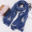 Lovely Small Cats Print Thin Voile Scarf