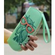 Woman Lady Girls Lovely Lovely Owl Glasses Hit Color Printing Round Zipper Wallet Long Wallet Purse Clutch