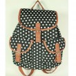 Fashion Dots Solid Leisure College Backpack