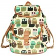 Lovely Owl Printing Leisure Backpack
