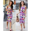 Fasional Colorful Style Printing Tight Dress