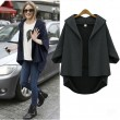 good Loose Irregular Cut Bat Sleeve Coat