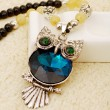 Retro Crystal Owl Beaded Chain/Necklace
