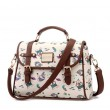 Lovely College Cartoon Print Leather Shoulder Bag