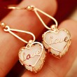 Lovely Opal Heart Love Earrings & Eardrop