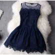 good Lace Hollow Out Hook Flower Skirt&Party Dress