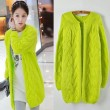 New Retro Twist Fluorescent  Loose Sweater &Cardigan