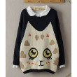 New Style Lovely Eyes Cat Wool Sweater&Cardigan