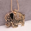 Sweet Lovely Animal Rhinestone Elephant  Necklace