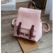 Korean Fresh Embroidery Letters Leisure Pure Backpack