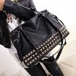 New Rivets Leather Women Shoulder Bag Punk Square Rivet Handbags