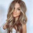 New Style Brown Big Wavy Long Curly Women Hair Wig