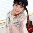 Fashion Autumn Winter Shawl Cotton Voile Women Scarf Cartoon Eiffel Tower Long Scarf