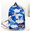Creative Galactic Clouds British Flag Canvas Backpack
