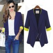 Slim Zipper Lapel Irregular Suit Jacket Coat