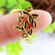 Tree Of Life Retro Antique Golden Opening Ring
