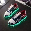 Star Print USB Colorful LED Luminous Couple Sports Shoes