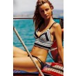 Black and White Striped Sexy Bikini Bathing Suit Swimwear