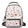 New Cartoon PU Tower Students Schoolbag Bridge Rainbow Zipper Backpack