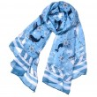 Fresh Thin Sea Anchor Boat Scarf Shawl Lighthouse Whale Muslim Scarf