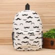Lovely Cartoon Moustache  Animal Printed  Owl Canvas Backpack