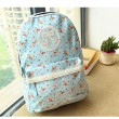 Pastoral Lace Floral College Backpack