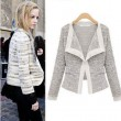 Fashion Quality Linen Knit Long Sleeve Lapel Coat