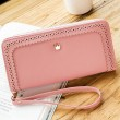 Fresh Hollow Dents Crown Lace Purse Card Wallet Girl's PU Clutch bag