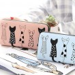 Lovely Long Cat Wallet Phone Purse Kitten Animal Clutch Bags