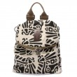 Retro Literary Totem Printed Multifunction Backpack Shoulderbag Travel Backpack