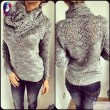 Unique Hollowd-out Whole Color Heaps Fashion Women's Collar Sweater