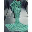 Unique Knitted Mermaid Tail Blanket For Adult Soft Hollow Weave Blanket