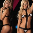 Sexy Patent Leather G-sting Sets Women's Hearts Lingerie